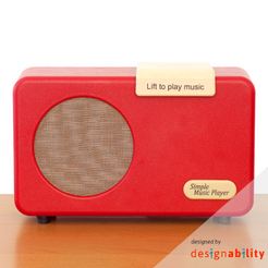Simple Music Player - Red