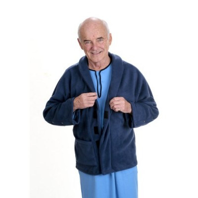Men's Fleecy Bed Jacket