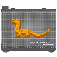 Flexi Dragon STL in Prusa Slicer