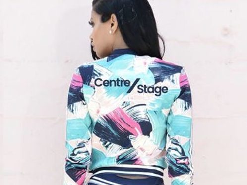 Blue and Pink Floral Jacket