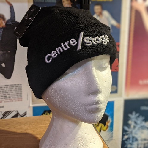 Black CentreStage Embroided Beanies