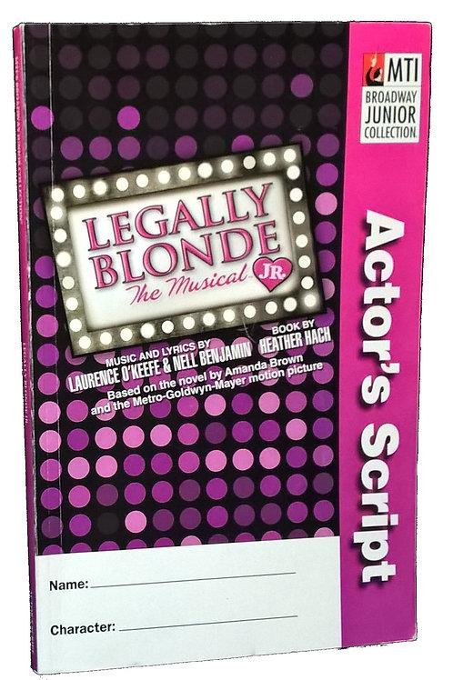 Legally Blonde Jr. Script