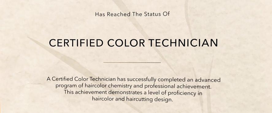 Certified Color Technician