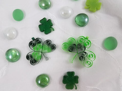 Quilled Shamrock Ornaments