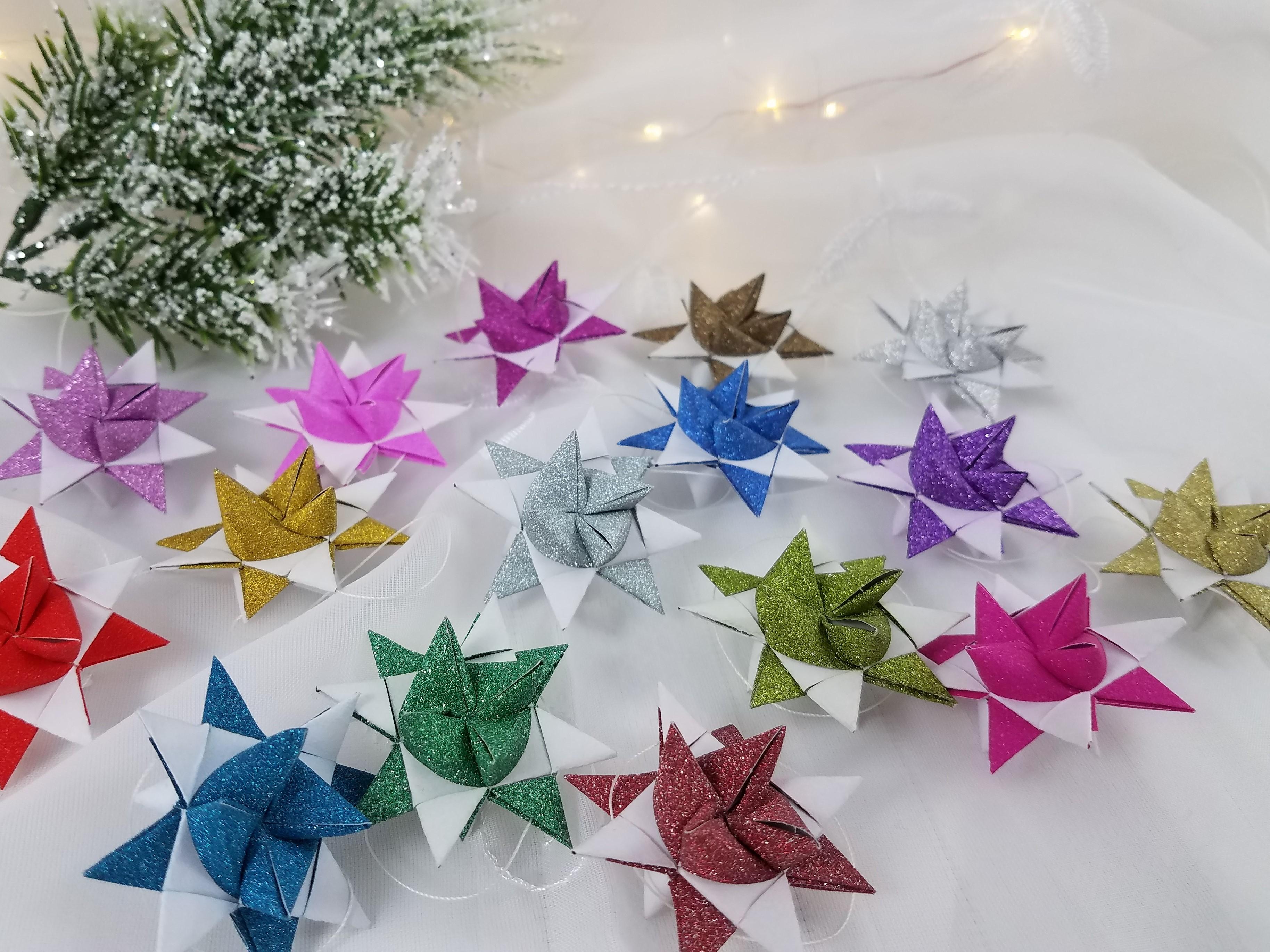 Glittery Moravian Stars