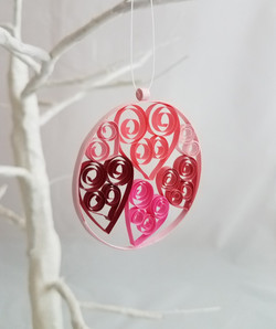 Quilled Hearts Ornament