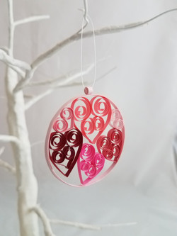 Quilled Heart Ornament