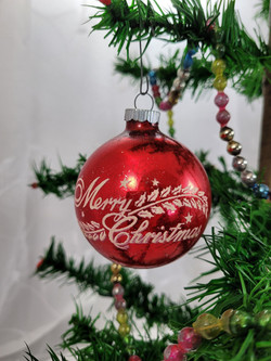 Midcentury stenciled ornament