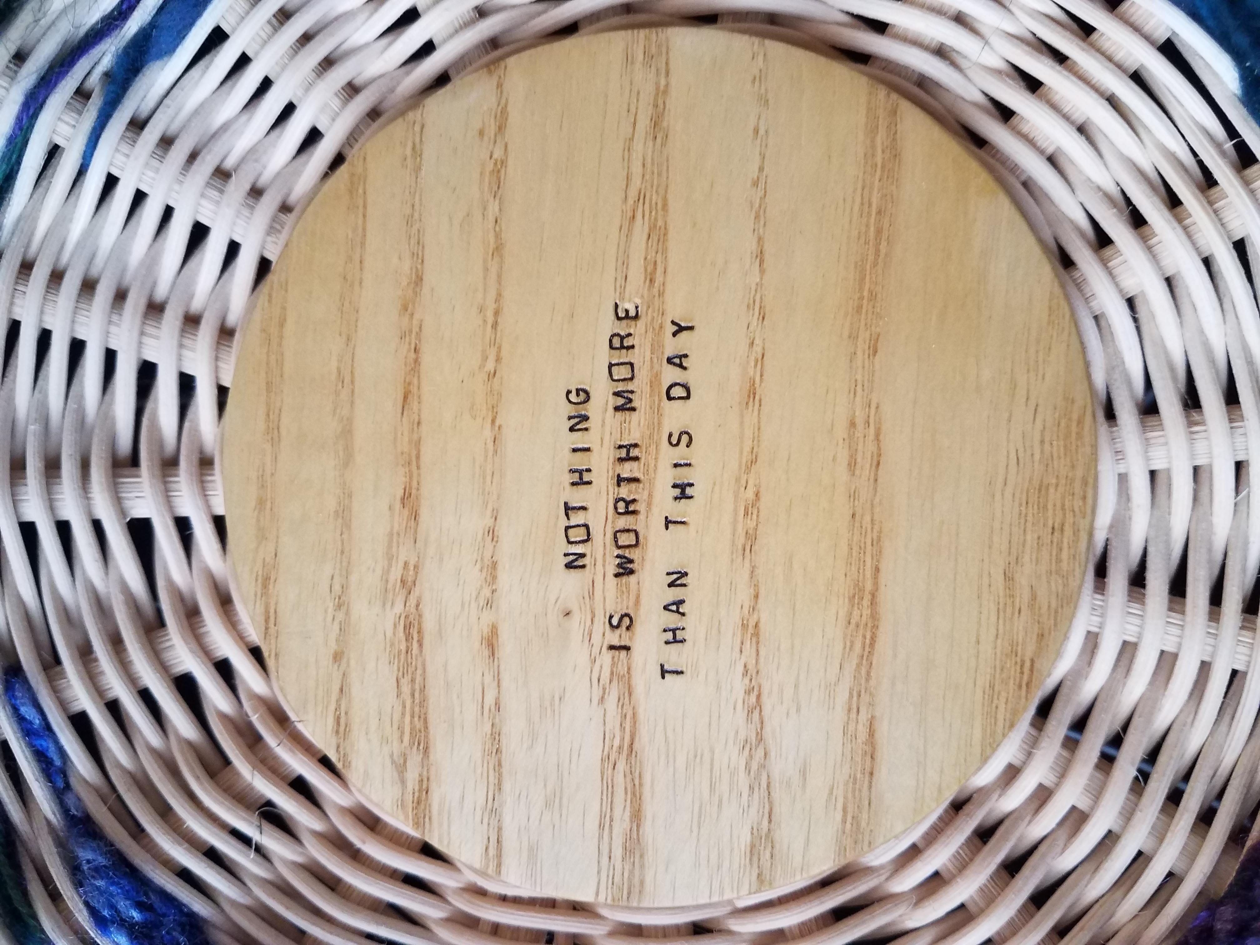 Tapestry Basket Detail