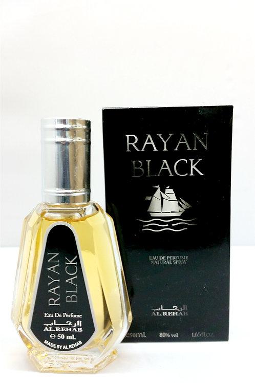 Rayan Black By Al Rehab 50ml Perfume Spray
