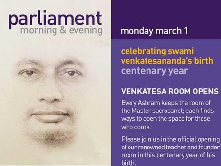 Sobha Day - Swami Venkatesananda's Centenary Year