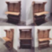 Hobby desk flatpack design tall desk dowel construction no glue no nails