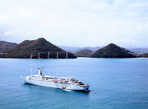 Cruise boot op het water