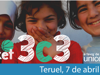 """Baloncesto 3x3 solidario por UNICEF. Domingo 7 de abril de 9 a 14 horas en el """"Pabellón Las Viñ"""