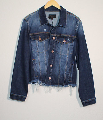 Milly Frayed Hem Washed Jacket