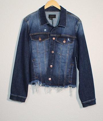 Milly Frayed Hem Washed Jacket