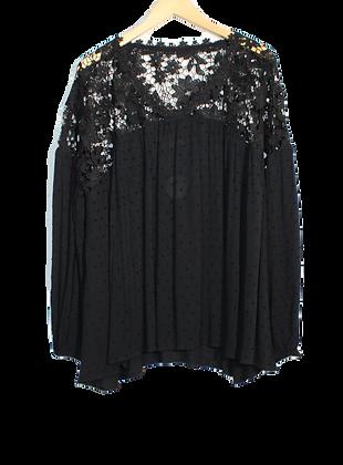 Lacey Floral Crochet Blouse