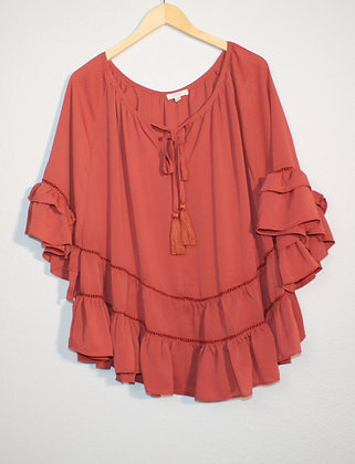 Lulu Woven Ruffled Sleeve Blouse