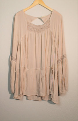 Bella Woven Loose-Fit Tunic Blouse