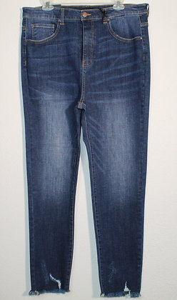 Ophelia High Rise Frayed Ankle Skinny Jeans