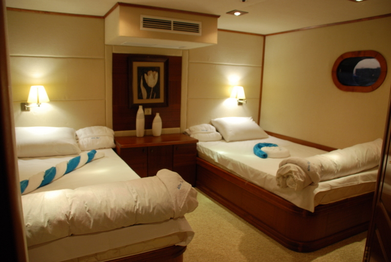 luxury rooms on yacht