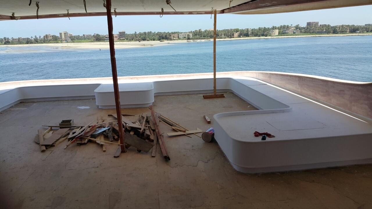 unfinished luxury yacht