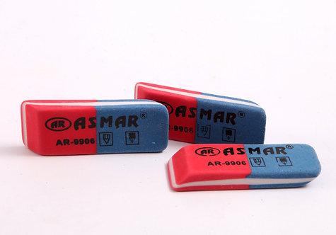 Ластик красно-синий большой ASMAR AR-6015 (36шт/уп)
