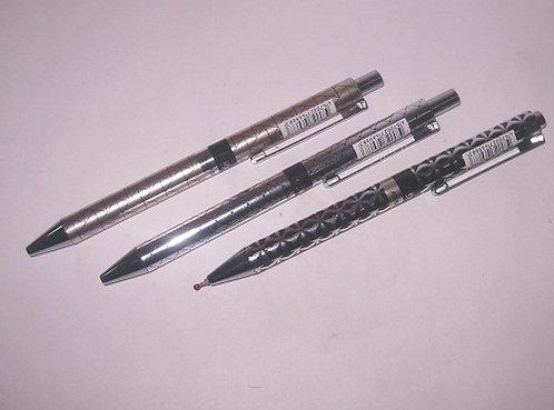 Ручка автомат корпус серебро с рисунком СИНЯЯ ASMAR AR-527 (24шт/уп)