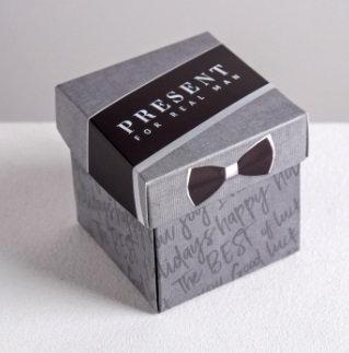 """Коробка-бонбоньерка 65х65х65мм """"Ассорти"""" квадрат ДАРИТЕ СЧАСТЬЕ"""