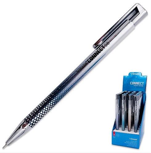 """Ручка автомат """"Point/Connect"""" 0,7мм корпус цветной СИНЯЯ VINSON S8 (24шт/уп)"""