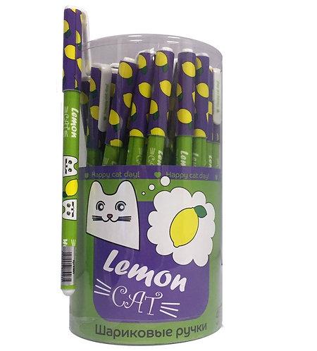 """Ручка шариковая """"Happy Cat"""" 0,7мм СИНЯЯ CENTRUM 83992/83993/83995 (48шт/уп)"""