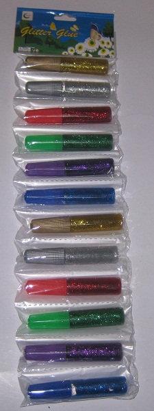 Клей-гель с блестками 6цв 6мл 5201 (60шт/уп)