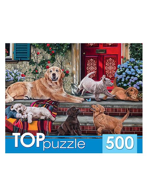 TOPpuzzle. ПАЗЛЫ 500 элементов. ХТП500-4215 РЕТРИВЕРЫ