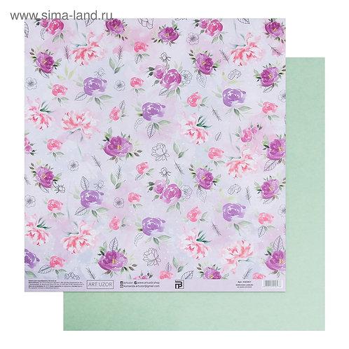 Бумага для скрапбукинга «Цветочный ветер», 30.5 × 32 см, 190 гм 4505827