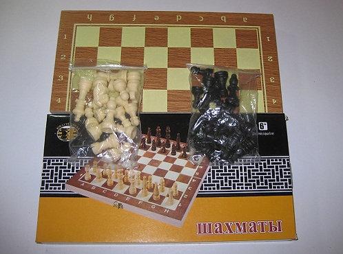 Шахматы 350х170мм дерево W002L в деревянной коробке