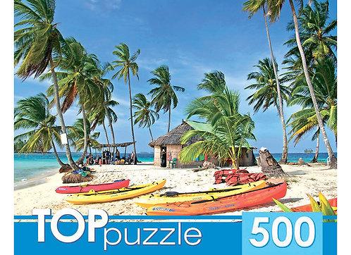 TOPpuzzle. ПАЗЛЫ 500 элементов. КБТП500-6803 Лодки на острове