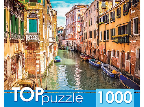 TOPpuzzle. ПАЗЛЫ 1000 элементов. ГИТП1000-2155 Италия. Венецианская улочка