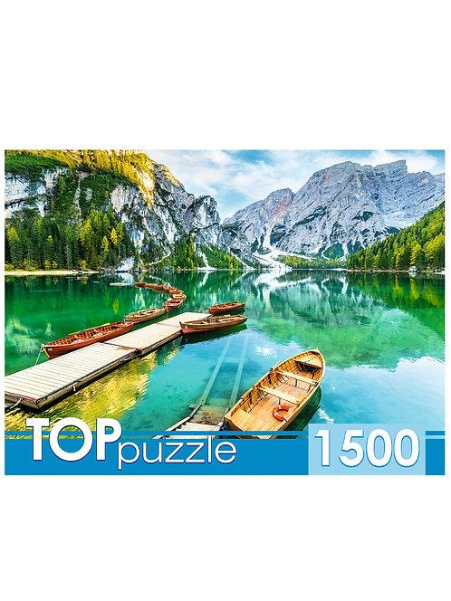 TOPpuzzle. ПАЗЛЫ 1500 элементов. ГИТП1500-4845 Италия. Закат на озере Брайес