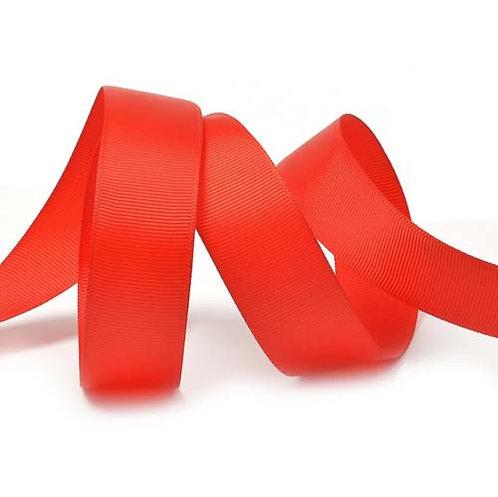 Лента упаковочная репсовая Классика,25 мм х 22 м,красный БЛ-5633