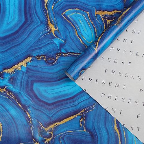 Бумага упаковочная глянцевая двусторонняя «Агат», 70 × 100 см 5479446