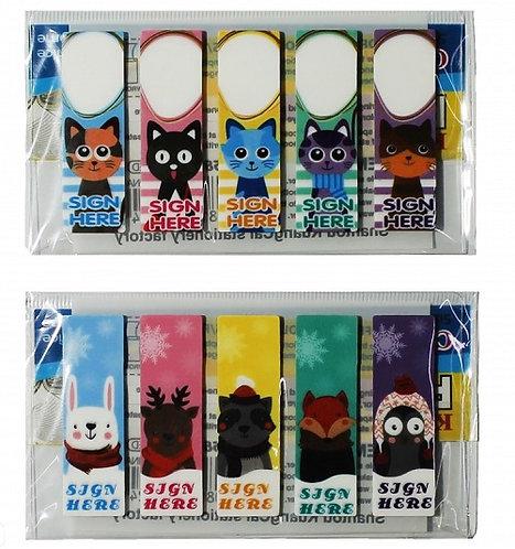 """Набор блоков для записей """"Kitty"""" 5полос закладок+2блока фигурные 1037 на планшет"""