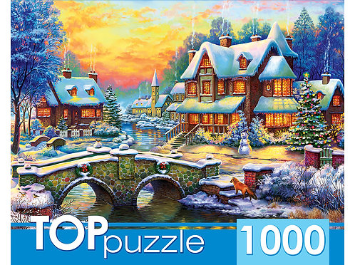 TOPpuzzle. ПАЗЛЫ 1000 элементов. ХТП1000-2163 Зимняя деревня
