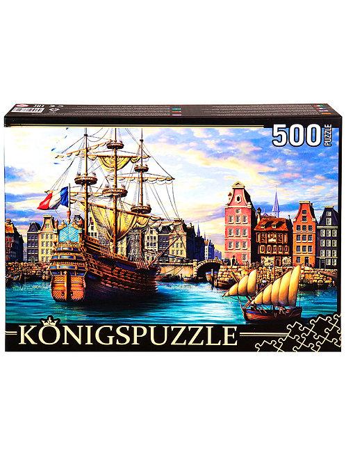 Konigspuzzle. ПАЗЛЫ 500 элементов. ХК500-6321 КОРАБЛИ В ПОРТУ