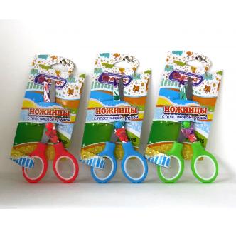 Ножницы детские 120мм лезвия с рисунком ASMAR AR-6026