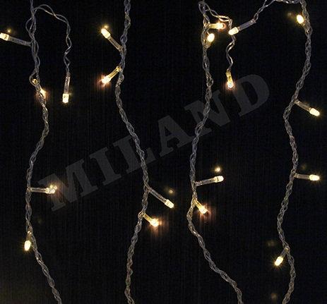 Гирлянда-штора электрическая 1,8х1,4м 108лампочек 8режимов белый провод MILAND Н