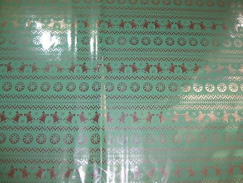 """Бумага упаковочная 700х500мм металлизированная """"Ассорти"""" SL в листах"""