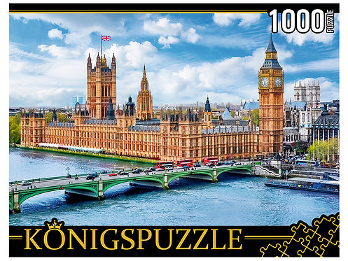 Konigspuzzle. ПАЗЛЫ 1000 элементов. ГИK1000-0637 ПАНОРАМА ЛОНДОНА