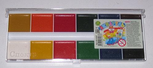 Краски акварельные 12цв PROF-PRESS КА-4587 в пластиковой упаковке (36шт/уп)