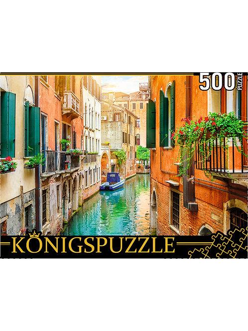 Konigspuzzle. ПАЗЛЫ 500 элементов. ШТK500-3577 ВЕНЕЦИАНСКИЙ КАНАЛ НА РАССВЕТЕ