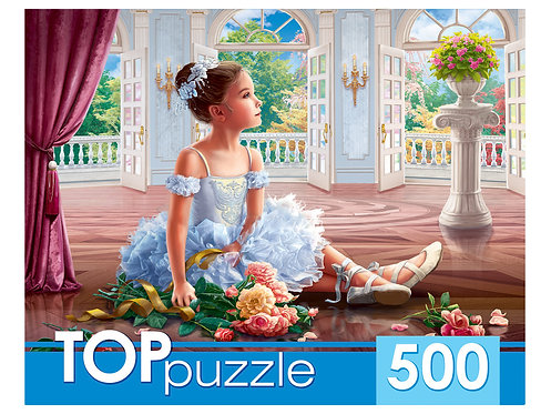 TOPpuzzle. ПАЗЛЫ 500 элементов. ХТП500-5731 МАЛЕНЬКАЯ БАЛЕРИНА С БУКЕТОМ